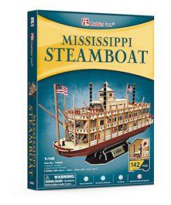 Puzzle 3d bateau a vapeur