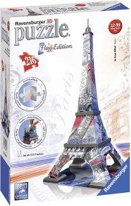 Puzzle 3d tour eiffel de ravensburger flag edition