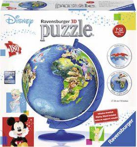 Puzzle 3d globe terrestre disney par ravensburger