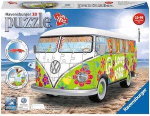 Puzzle 3d combi hippie style volkswagen par ravensburger