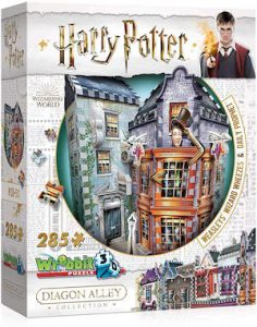 Puzzle 3d de la boutique Weasley : farces pour sorciers facetieux