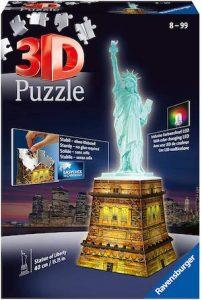 Puzzle 3D lumineux statue de la liberté