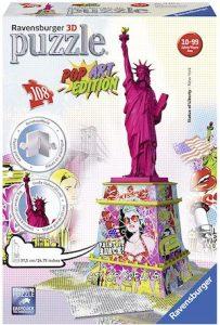 Puzzle 3d pop art statue de la liberté